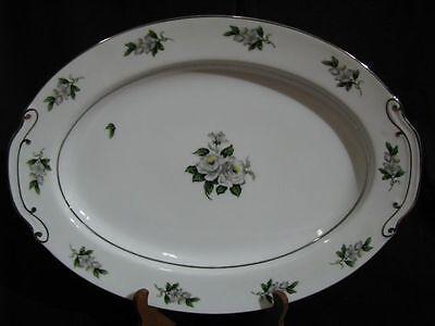 Vintage Japanese Gold Coast China White Rose Porcelain Serving Meat Platter