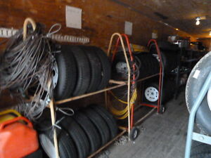 Assortement of used tires for vehicles
