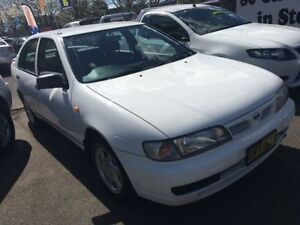 1998 Nissan Pulsar N15 Plus White 4 Speed Automatic Sedan Campbelltown Campbelltown Area Preview