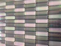 CLEARANCE Mosaic glass white and grey pearlescent tiles