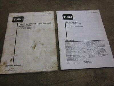 Toro Dingo Tx420 Tx425 Mini Skid Steer Loader Operators Parts Manual