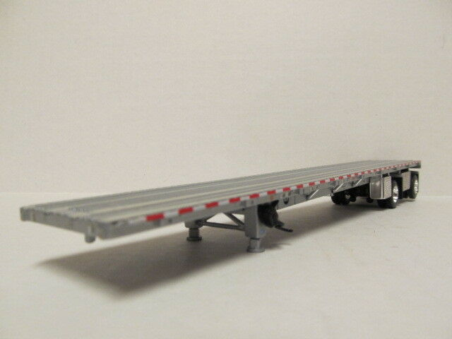 DCP 1/64 SCALE WILSON  ROAD  BRUTE  FLATBED  TRAILER  SILVER DECK, SILVER FRAME