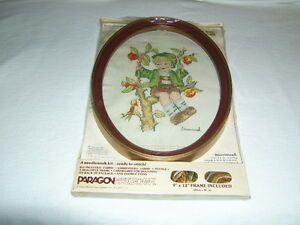VINTAGE HUMMEL CROSS STITCH KIT COMPLETE WITH FRAME NIP