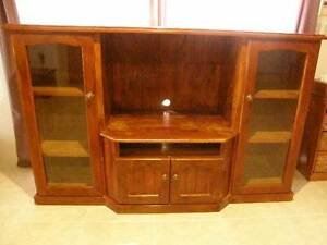 Timber TV cabinet on wheels Butler Wanneroo Area Preview