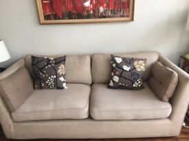 Large Very Comfortable Sofa.'Comfort Galore' from Sofa Workshop. Great Lounging TV Sofa. Linen Cover