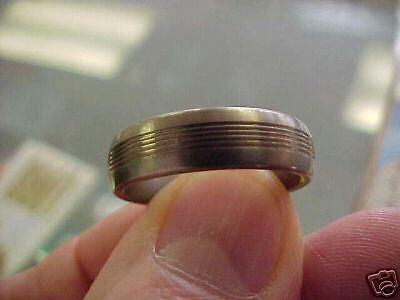 Titanium Mens   6mm  Modern Ring  Size 9  New