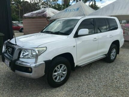 2007 Toyota Landcruiser 200 GXL V8 White 5 Speed Automatic Wagon Arundel Gold Coast City Preview