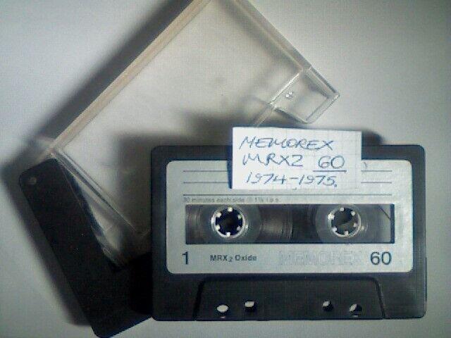 4 Memorex 60 Audio Cassette Tape MRX2 Oxide Single