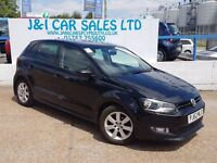 VOLKSWAGEN POLO 1.2 MATCH 5d 59 BHP A GREAT EXAMPLE INSIDE AND OUT (black) 2012