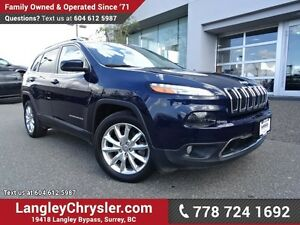 2016 Jeep Cherokee Limited ACCIDENT FREE w/ LEATHER, NAVIGATI...