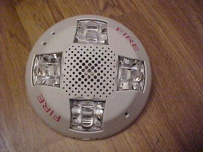 Edwards Gcs Ceiling Speaker Strobe 15-115cd White Fire Alarm New In Box