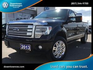 2013 Ford F-150 LOCAL TRADE IN, PLATINUM EDITION, TWO SETS OF TI
