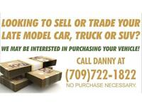 CONSIDERING SELLING YOUR LATE MODEL TRUCK, CAR OR SUV???