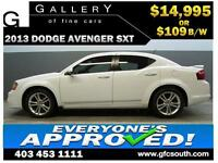 2013 DODGE AVENGER SXT **EVERYONE APPROVED** $0 DOWN $109/BW!