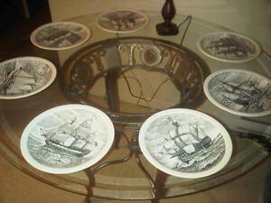 7 Historic Canadian Vessels Wedgwood Dinner Plates...Great Gift Cambridge Kitchener Area image 1