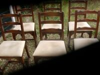 x6 dining room chairs full covered seats vgc £25