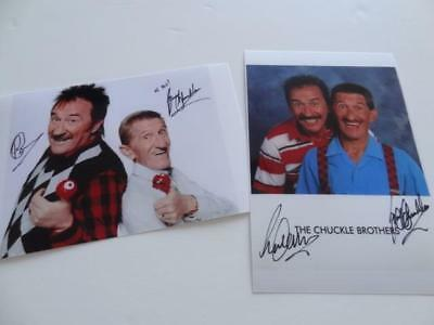 CHUCKLE BROTHERS PAUL & BARRY SIGNED RE-PRINT TO ME TO YOU PHOTOGRAPHS SET