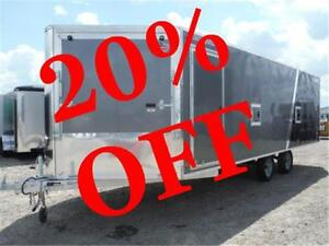 SAVE BIG ON 2016 SNOW TRAILERS! 8.5 X 22+5 ALL ALUMINUM! 20% OFF