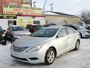 2012 HYUNDAI SONATA GL AUTO LOADED 66K-100% APPROVED FINANCING!!