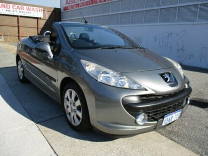 2009 Peugeot 207 CC 1.6 Grey 4 Speed Automatic Cabriolet West Perth Perth City Area Preview