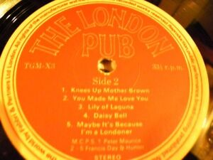 Collectible London Pub Vinyl LP and Story Book