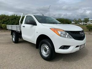 2012 Mazda BT-50 UP0YF1 XT 4x2 Hi-Rider White 6 Speed Manual Cab Chassis Garbutt Townsville City Preview