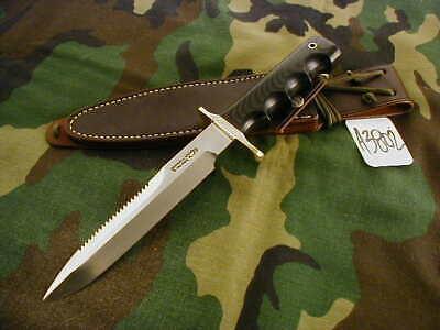 "RANDALL KNIFE KNIVES #16-7"" DIVER,SS,ST,BDH,BLACK MICARTA,FG,WT,WX.SH. #A3802"