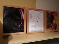 star wars framed pictures x 3