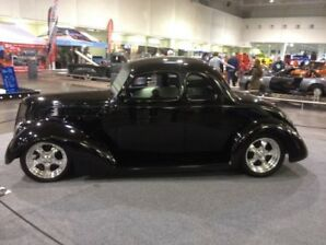 1937 Black 5 Window Ford Coupe