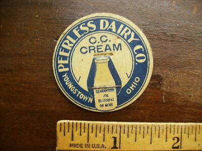 PEERLESS DAIRY CO YOUNGSTOWN OHIO VINTAGE MILK BOTTLE CAP LOT A-29