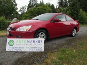 2007 Honda Accord Coupe EX-L, AUTO, INSPECTED, FREE WARRANTY