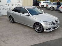 MERCEDES-BENZ C CLASS C220 CDI SPORT 4d AUTO 168 BHP (FINANCE & WARRANTY (silver) 2007