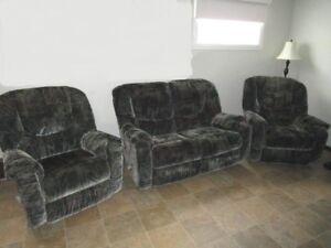 ensemble Elran/ inclinable /berçant - 2 fauteuils / causeuse