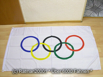 Fahnen Flagge Olympia Olympic - 90 x 150 cm