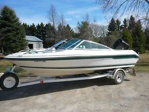 16 ft Sea Ray Bow Rider with trailer