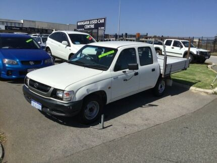 2003 Toyota Hilux RZN149R White 5 Speed Manual Dual Cab Pick-up Wangara Wanneroo Area Preview