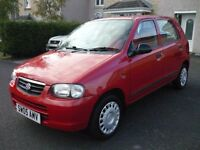 SUZUKI ALTO GL 2005 LOW MILES £30 ROAD TAX MOTED APRIL 17