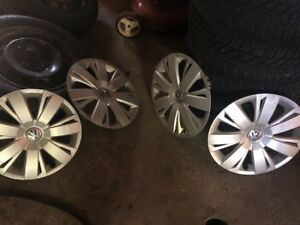 "Volkswagen hub caps. Great shape. Fits 16"" rims."