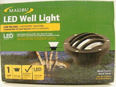 Set of 4 Malibu LED Well Landscape Light low voltage 8401350001