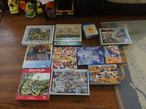 an assortment of puzzles