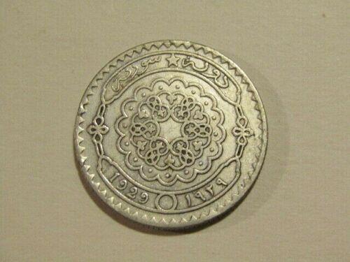 Syria 1929 50 Piastres Silver Coin