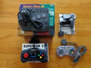 snes manette fighterstick, supercon, capcom, SS propad""