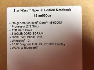 HP Star Wars Special Edition Notebook -- NEW West Island Greater Montréal image 2