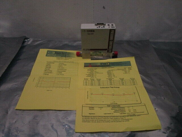 MKS Type 649A Mass Flow Pressure Controller, MFC, Ar, 10 SCCM, 10 Torr, 101154