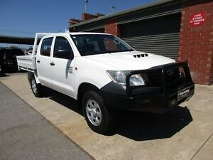 2012 Toyota Hilux KUN26R MY12 Workmate (4x4) White 5 Speed Manual Cab Chassis Holden Hill Tea Tree Gully Area Preview