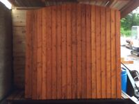 Arched Vertilap Closed Boarded Fencing Panels