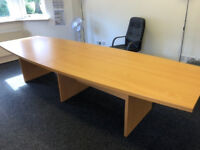 Large Beech Boardroom Table