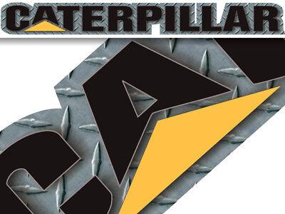 Caterpillar decal sticker - Diamond Plate - windshield window tailgate toolbox