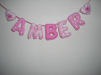 Personalised name wall door banner bunting baby/child christening nursery
