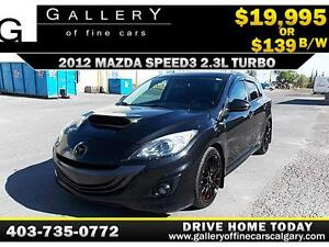 2012 Mazda MazdaSpeed3 Turbo $139 bi-weekly APPLY NOW DRIVE NOW